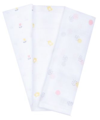 Mothercare Tulip Muslins - 3 Pack