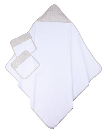 Mothercare Premium Grey Towel And Flannel Set