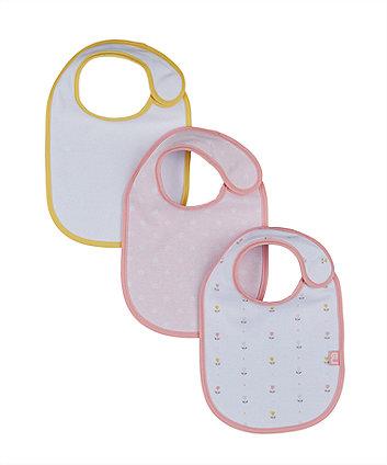 Mothercare Tulip Newborn Bibs - 3 Pack