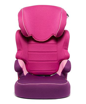Mothercare Milan Highback Booster Car Seat - 3 Tone Pink