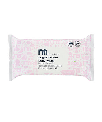 Mothercare Fragrance-Free Wipes - 60 Pack