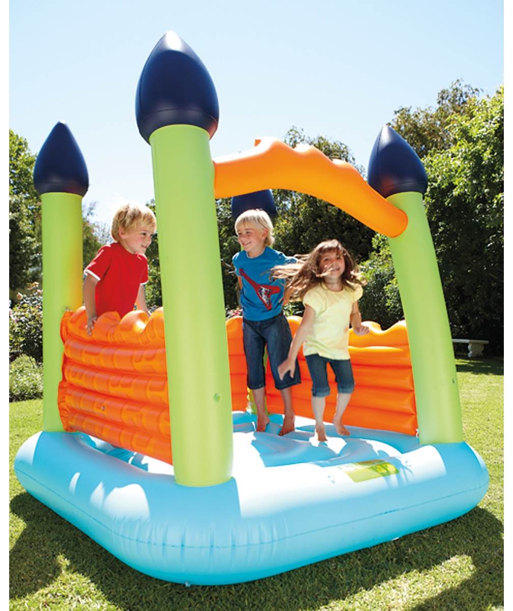 Early Learning Centre bouncy castle  blue