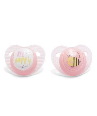 Mothercare Orthodontic Soothers 0m+ 2pcs - Girl