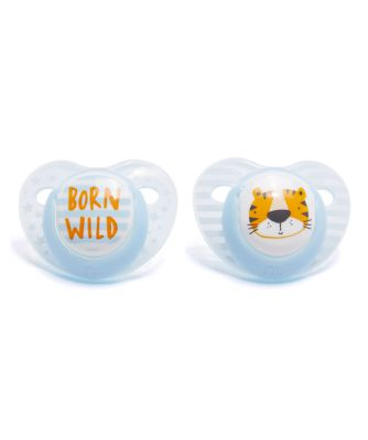 Mothercare Orthodontic Soothers 0m+ 2pcs - Blue