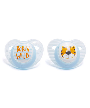 Mothercare Orthodontic Soothers - Blue 0 Months+ 2 Pack