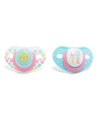 Mothercare Orthodontic Soothers 6m+ 2pcs - Girl