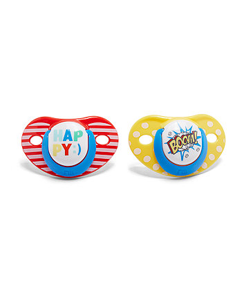 Mothercare Orthodontic Soothers 6 Months+ - 2 Pack