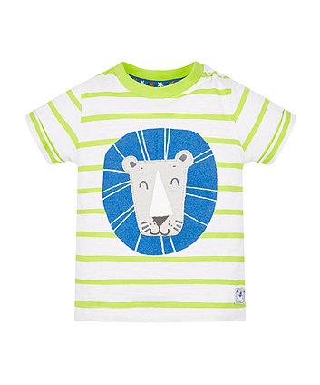 Lime Stripe Lion T-Shirt