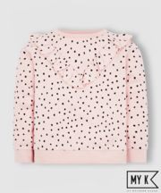 Mothercare My K Pink Frill Sweat Top