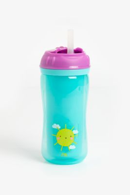 Mothercare Insulated Flexi Straw Cup - Girl