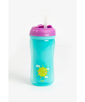 Mothercare Insulated Flexi Straw Cup- Girl