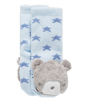 Mothercare My First Bear Rattle Socks