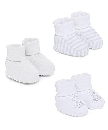 Mothercare Little Lamb Socktops - 3 Pack