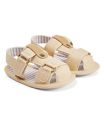 Mothercare Tan Fisherman Sandals