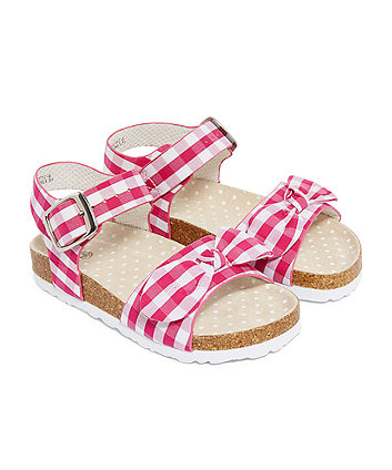 Pink Gingham Sandals