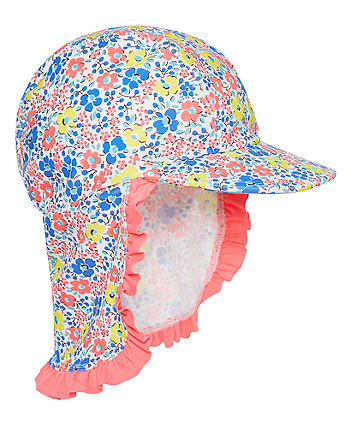 Mothercare Neon Ditsy Floral Keppi Hat