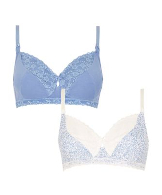 Mothercare Manor Lace And Floral Nursing Bra - 2 Pack