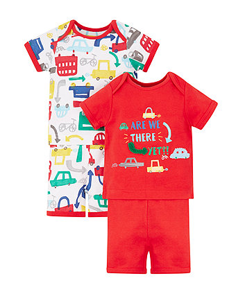 Are We There Yet Shortie Pyjamas - 2 Pack