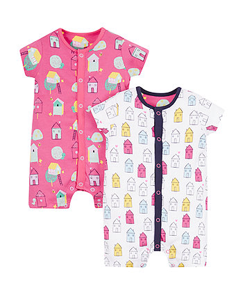 Little House Rompers - 2 Pack