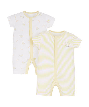 Little Duck Rompers - 2 Pack