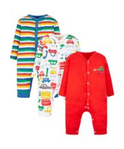 Vroom Vroom Sleepsuits - 3 Pack