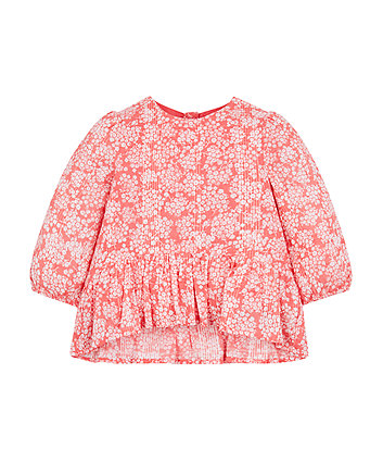 Mothercare Coral Peplum Blouse