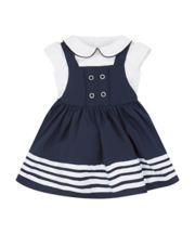 Sailor Pinny Dress And Bodysuit Set