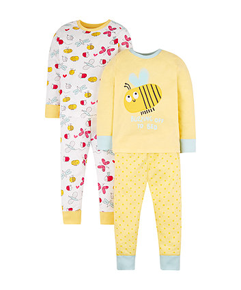 Yellow Bee Pyjamas - 2 Pack