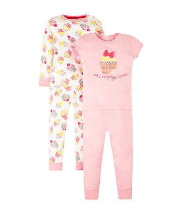 Cupcake Pyjamas - 2 Pack