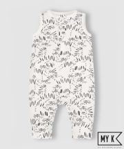 My K White Tiger Face Dungarees