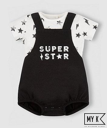 Mothercare My K Super Star Bibshorts And Bodysuit Set