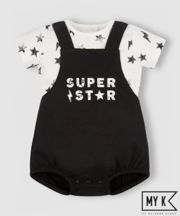 Mothercare My K Super Star Bibshorts And Bodysuit Set