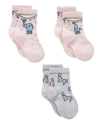 Mothercare Circus Socks - 3 Pack