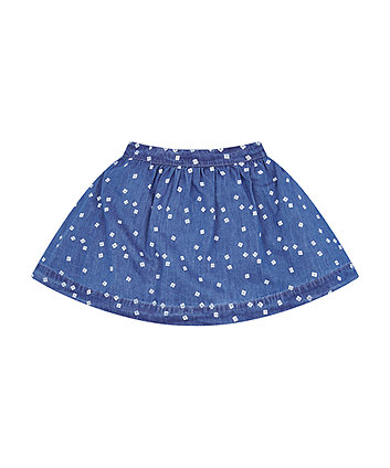 Mothercare Floral Denim Skirt