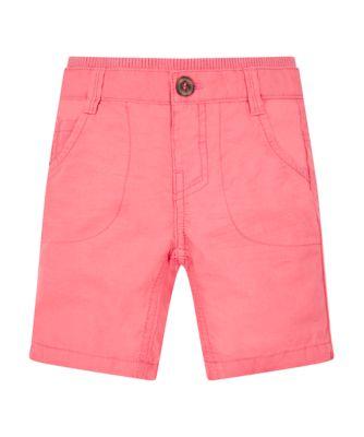 Mothercare Still Nice Coral Canvas Chino Rib Waist Shorts