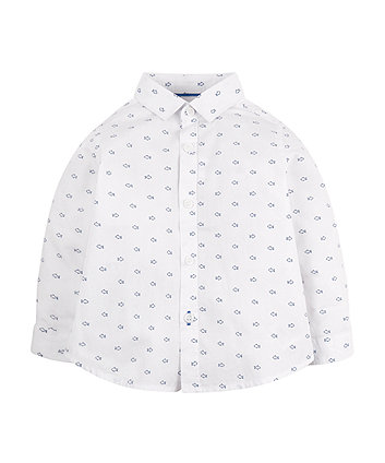 Fish Print Oxford Shirt