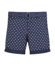 Mothercare Geometric Belted Shorts