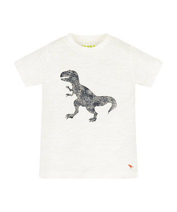 Mothercare White Dino T-Shirt