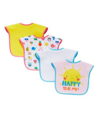 Mothercare Sunny Days Bibs - 4 Pack