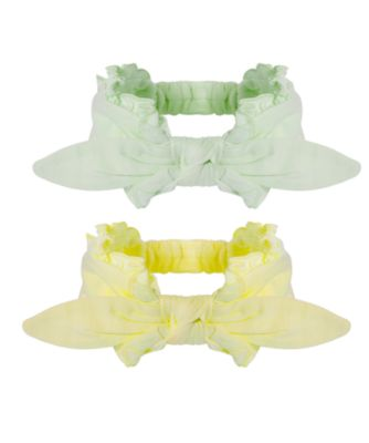 Mothercare Newborn Little Botanist Yellow And Mint Hairbands - 2 Pack