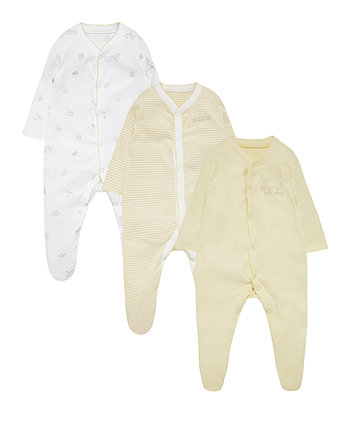 Toy Box Sleepsuits - 3 Pack