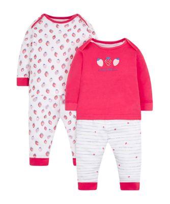 Mothercare Strawberry Pyjamas - 2 Pack