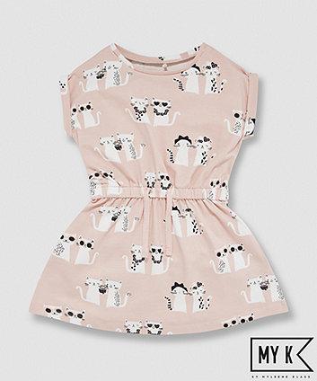 My K Pink Cat Jersey Dress