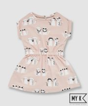 My K Pink Cat Jersey Dress