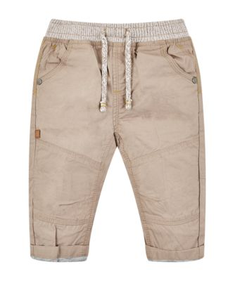 Mothercare Scandi Forest Stone Poplin Jersey Lined Trousers