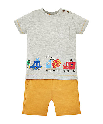 Vehicle T-Shirt And Shorts Set