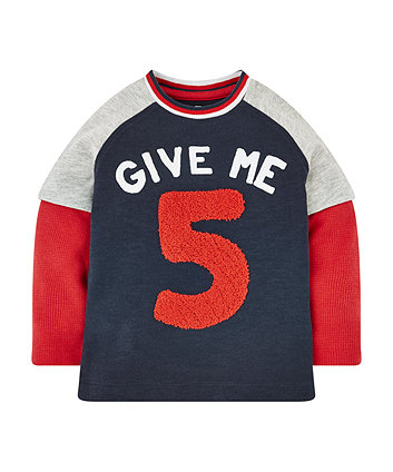 Give Me 5 Mock Layer T-Shirt