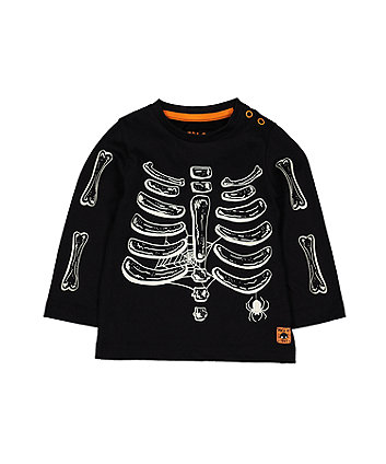 Halloween Glow-In-The-Dark Skeleton T-Shirt