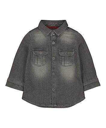 Mothercare Grey Denim Shirt