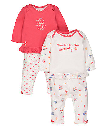 Tea Party Pyjamas - 2 Pack
